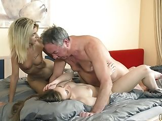 Blowjob, Dick, Old And Young, Teen, Threesome,