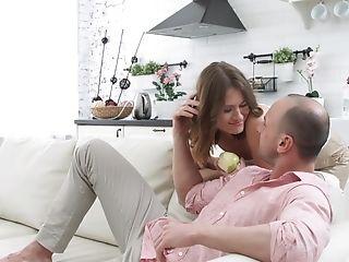 Blowjob, Boyfriend, Couch, Couple, Erotic, Girlfriend, HD, Homemade, Kitchen, Moaning,