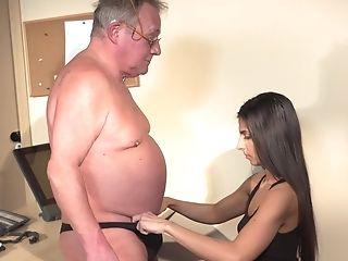 69, Babe, Blowjob, Brunette, Cum In Mouth, Cumshot, Daddies, Desk, HD, Long Hair,
