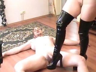 Amateur, BDSM, Femdom, Fetish, German, Trampling, Webcam,