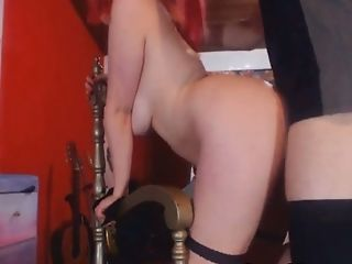 Couple, From Behind, Pretty, Redhead, Rough, Webcam,