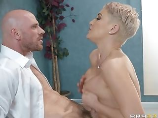 Blonde, Couple, Cowgirl, Cum In Mouth, Cum On Tits, Cum Swallowing, Cumshot, Doggystyle, Facial, Fake Tits,