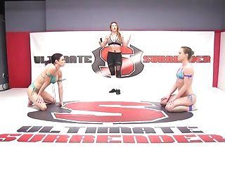 Bikini, Catfight, Cheyenne Jewel, Hardcore, Lesbian, Sex Toys, Strapon, Tattoo, Wrestling,