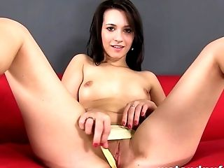 Brunette, Cute, Dildo, European, Fingering, Masturbation, Moaning, Pussy, Sex Toys, Solo,
