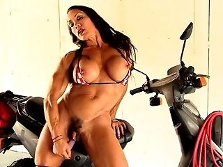 Babe, Bikini, Boots, Female Bodybuilder, HD, Masturbation, Muscular, Sex Toys, Solo,