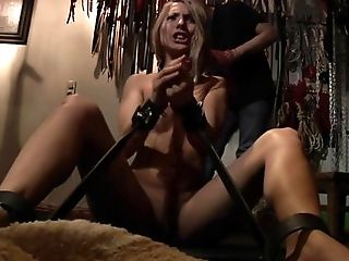 BDSM, Blonde, Blowjob, Bold, Bondage, Boobless, Caucasian, Chained, Couple, Cumshot,
