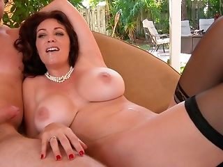 American, Ass, Big Ass, Big Tits, Boy, Brunette, Charlee Chase, Couch, Cum, Cum In Mouth,