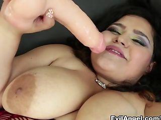 BBW, Dildo, Forest, Karla Lane, Latina, Masturbation, Pornstar, Sex Toys, Solo,