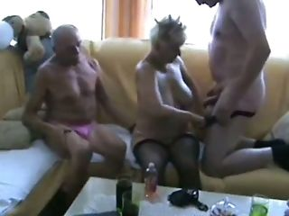 Blonde, Fmm, Housewife, Old, Saggy Tits, Slut, Threesome,