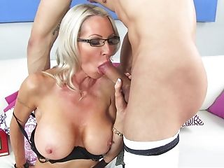 American, Big Tits, Bobcat, Boy, Couch, Cougar, Experienced, Glasses, Mature, Mom,
