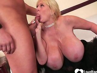 Big Tits, Blonde, MILF, Rough, Stockings,