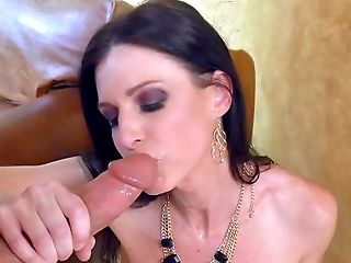 Blowjob, Boobless, Brunette, Couch, Cumshot, Hardcore, HD, India Summer, MILF, Moaning,