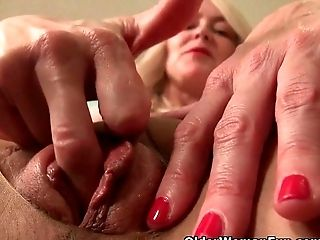 American, Fingering, Lingerie, Mature, MILF, Mom, Nylon, Pantyhose, Pussy, Wet,