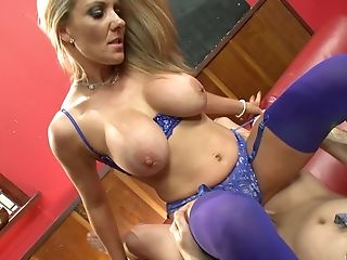 Big Tits, Blonde, Cowgirl, Cunt, Doggystyle, Handjob, Hardcore, Lingerie, MILF, Missionary,