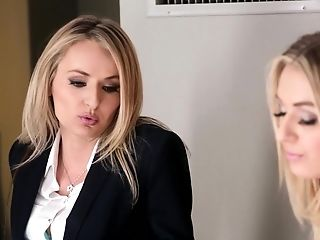 Babe, Blonde, Horny, Lesbian, Licking, Long Hair, Pornstar,